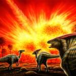 """Parasaurolophus & meteor strike"" by PhilWilson"