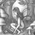 """Fairy in the Wood pencil"" by TASillustrations"