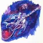 """B.B. KIING BLUE"" by DavidLloydGlover"