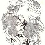 """Octopus Fantasy Print"" by DonnaMariesArt"