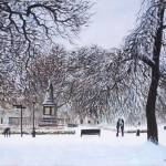 """Southampton Watts Park in the Snow"" by martindavey"