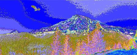 Mt. Rainier Bald Eagle Enhanced