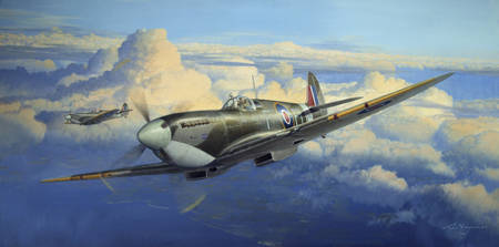 Afternoon Sweep - Spitfire painting
