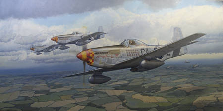 P-51 Mustang art - 'Finding a gap'