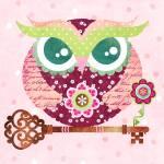 """Spring Blossom Owl"" by sandygrafik_arts"