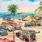 """""""""""Moonlight Beach Woodies"""""""" by WillyDaleArt"""