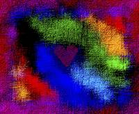 Abstract Rainbow Valentine 3