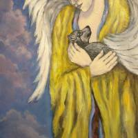 Wolf Angel Art Prints & Posters by Virginia Zuelsdorf