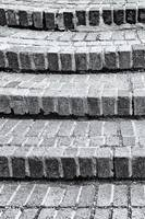 Brick Steps in Black and White