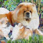 """ANN RATHMEL- COMMISSION MOM AND PUPS"" by electra-cute"