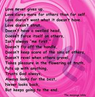 love message pink swirl