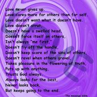 love message purple swirl