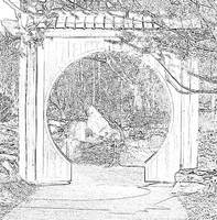 round gate bw drawing