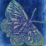 """butterfly vintage blue"" by lizmix"