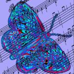 """butterfly purple music"" by lizmix"
