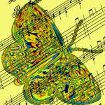"""butterfly yellow music"" by lizmix"
