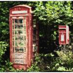 """Old Red Telephone Box Old Red Letter Box"" by NatalieKinnear"