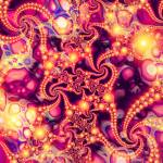 """Falling Within (warm) - Psychedelic Fractal Abstra"" by LeahMcNeir"