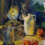 """Still Life by Oil Lamp"" by JYWArtist"