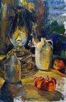 Still Life by Oil Lamp