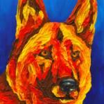 """Yellow German Shepherd"" by Rmbartstudio"