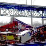 """Gravel Conveyor Below Skyway Bridge"" by LeonSarantosArtist"