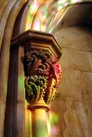 Gothic Column, Stainned Glass Light