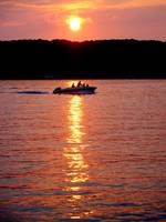 Sundown and getaway on Geneva Lake