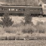 """Cyrus K  Holliday Private Rail Car BW Sepia"" by lightningman"