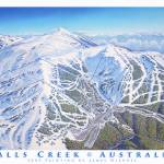 """Falls Creek Resort"" by jamesniehuesmaps"