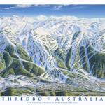 """Thredbo Ski Resort"" by jamesniehuesmaps"