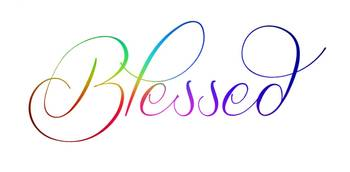 blessed special rainbow color gradient