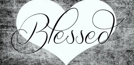 blessed special bw heart