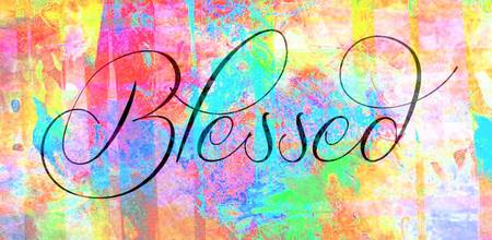 blessed special colorful texture