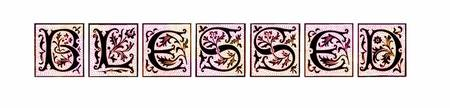 blessed style blocks pink and orange