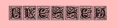 blessed style blocks pink