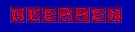 blessed style blocks red on blue