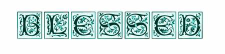 blessed style blocks teal