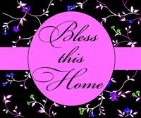 bless this home bright purple