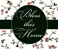 bless this home black and red
