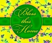 bless this home vibrant green and yellow