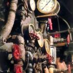 """Trains - Inside Cab of Steam Locomotive"" by susansartgallery"