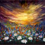 """Sunset-in-floral-valley-painting-impressionist-200"" by Art_by_Lilia"