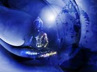 Buddha in blue
