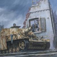 German Sturmpanzer in Cisterna, Italy 1944 Art Prints & Posters by Philip Arena