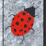 """Ladybug on a Single Pane"" by LimeCreekArt"