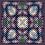 """purple-clover-mosaic-mandala"" by mandalaworld"