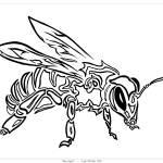 """Bee Spirit - Tribal Totem Animal"" by LeahMcNeir"
