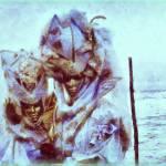 """Venice masquerade-aqua-blue"" by Art_by_Lilia"