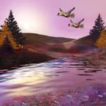 """""""Exotic birds in autumn"""" by AnneVis"""